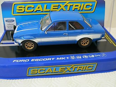 Scalextric C3592 Ford Escort -Blue / White  -  Brand New & Boxed