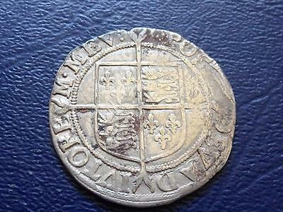 Elizabeth 1St Hammered Silver Shilling Mm Escallop Nice Coin Great Britain Uk