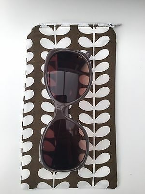 Glasses Case, Orla Kiely Fabric, Spectacles Sunglasses Cover Lined