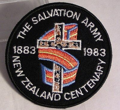 Salvation Army - CLOTH PATCH - NEW ZEALAND CENTENARY 1983