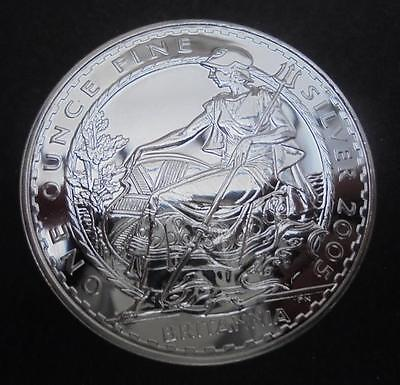 Great Britain 2005 0.958 Silver Britannia £2 Two Pounds Encapsulated Coin BU