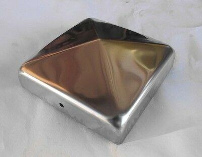 Fence post cap. Stainless Steel Post Cap 90x90 mm