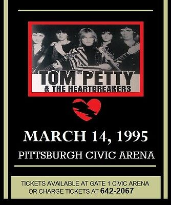 Tom Petty & Heartbreakers 1995 Pittsburgh Civic Arena - Glossy Laminated Poster