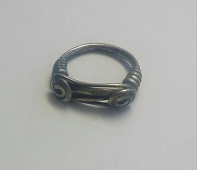 Ancient massive CELTIC Silver Knoted /Twisted RING