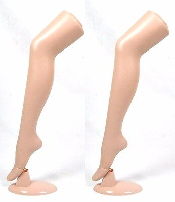 "Standing Female Mannequin Leg Sock and Hosiery Display Foot 30"" Tall -3 Pack"