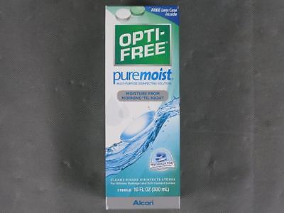 New Sealed 10oz Opti-Free Pure Moist Contact Disinfecting Solution & Lens Case