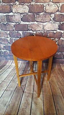 Retro Mid Century Round Folding Occasional Side Table Plant Stand G Plan Ercol