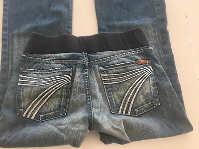 A PEA IN THE POD 7 SEVEN FOR ALL MANKIND JEANS MATERNITY Size 31 DENIM