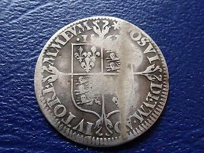Elizabeth 1St Milled Not Hammered Silver Sixpence 1562 Mm Star Great Britain Uk