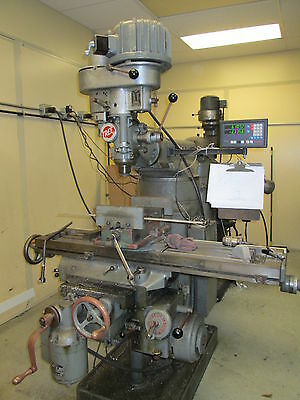 "Tree 2UVR-C 48"" Milling Machine W/6"" Indexer,Vise & Newall 2-Axis DRO 3Ph Nice!"