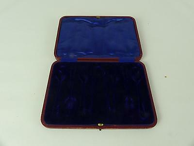 (ref165CT 13) Empty Vintage Cutlery Box Case For Teaspoons and tongs