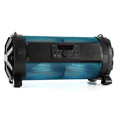 Portable Stereo Boombox Sound System Bluetooth Speaker Battery Fm Usb Sd 30W Rms