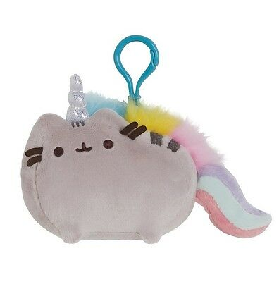"Gund 4.5"" PLUSH PUSHEEN BACKPACK CLIP, PUSHEENICORN (Pusheen-Unicorn) ~NEW~"
