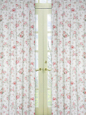 Sweet Jojo Designs Riley Roses Floral Window Treatment Panels Curtains Coverings