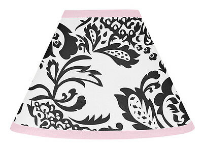 Sweet Jojo Designs Lamp Shade for Sophia Pink Black Baby Kid Girl Teen Bedding
