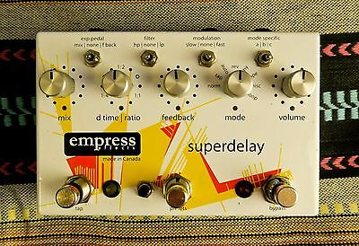 EmpressEffects Superdelay - digitally controlled analogue delay guitar FX pedal