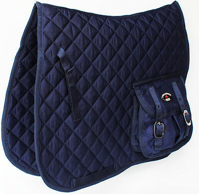 Horse Quilted ENGLISH SADDLE PAD Trail Aussie Australian Dressage Pockets 7282