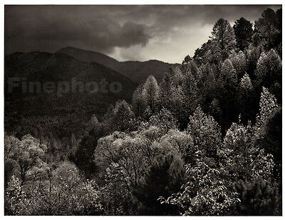 1949 SMOKY MOUNTAINS LeConte Tennessee Photo Engraved Fall Landscape ANSEL ADAMS