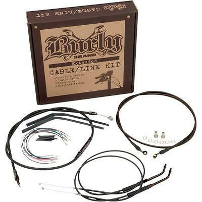 Burly B30-1047 Extended Cable/Brake Line Kit for Burly Ape Handlebars 16in