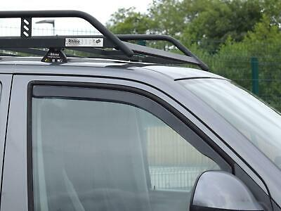 Heko 2pc Acrylic Tinted Wind Deflectors Set Pair for VW Transporter T5 (03-15)