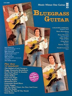 Bluegrass Guitar - Deluxe 2-CD Set Music Minus One Book and CD NEW 000400405