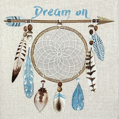 4x Paper Napkins -Dream On- for Party, Decoupage