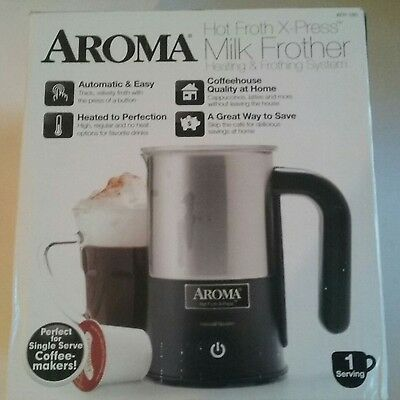 Aroma Housewares AFR-180 Aroma Hot Froth X-Press Milk Frother, Stainless Steel
