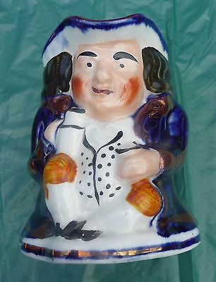 larger antique hand painted Gaudy Welsh Toby jug c1870