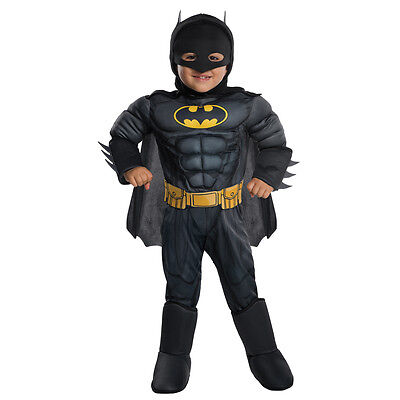 Toddler Muscle Chest Deluxe Batman Costume size XS 2T-4T
