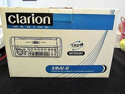 Clarion Marine Watertight 180W AM/FM Cassette CD NIB XMA1-R