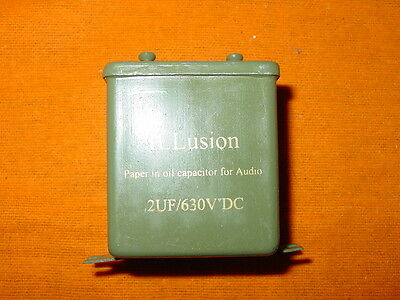 ILLusion NOS paper in oil capacitor for audio 2,0uF 630VDC (2pc)