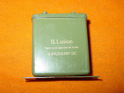 ILLusion paper in oil capacitor for audio 0,47uF 630VDC (2pc)