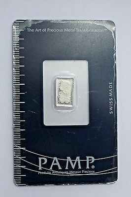 1 Gram PAMP Swiss Platinum Bar .9995 Fineness ~ Sealed ~ free shipping USA only