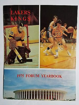 1975 Los Angeles Forum Yearbook home - Los Angeles Lakers & the LA KINGS