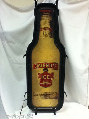 Smirnoff Ice bar sign lighted signs 1 bottle shape window wall display YH3