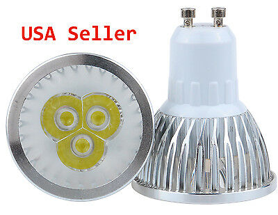Salt†Light 12pc Dimmable GU10 LED Light Bulb Bright LED Tracklight 6W Cool White