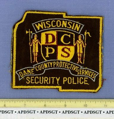 DANE COUNTY SECURITY POLICE (~Old Vintage) WISCONSIN WI Sheriff Police Patch