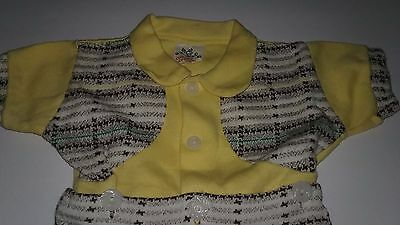 Vintage baby boys clothes 2 piece dressy outfit, Size 0-3 months, Mint