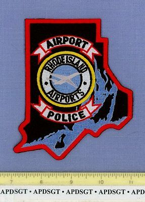 RHODE ISLAND AIRPORT RI Sheriff Port Police Patch STATE SHAPE