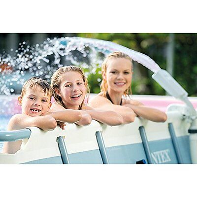 Intex Multi-Color LED Pool Fountain for Above Ground Pools, Fits Metal Frame...