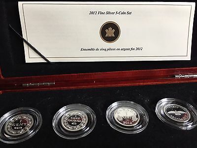 2012 Farewell To The Penny 5 Coin Silver Set
