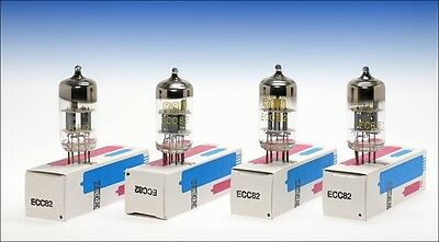 4 pcs. RFT Germany ECC82 12AU7 audio tube halo getter - tested