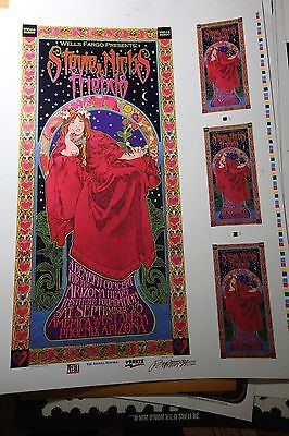"Stevie Nicks Fleetwood Mac ""And Friends"" Uncut print Poster 60s artist BOB MASSE"