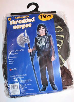 Boys Shredded Corpse Halloween Costume SIZE 8 - 10 NEW Kids Zombie Top Pants