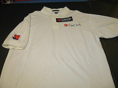SATURN Car Company CARCLUB Vintage 1990s Embroidered Golf Polo Shirt New! NWT XL