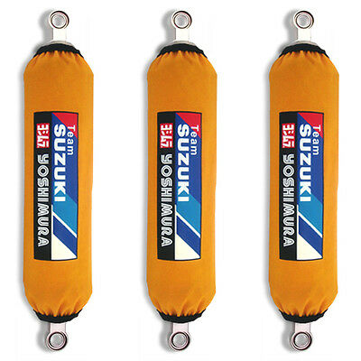 Yellow Suzuki Racing Shock Covers QuadRacer LT R450 LTR 450 (Set of 3) NEW