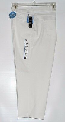 c6bacb0178afc Lee Woman s Plus Size Easy Fit Slimming Stretch Capri Jeans Pants White 22W  NWT