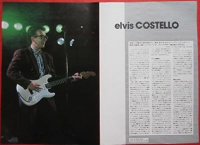 Elvis Costello 1980 Clipping Japan Magazine Pl 15A11 3Page