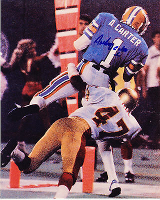 ANTHONY CARTER  OAKLAND INVADERS  USFL  ACTION SIGNED 8x10