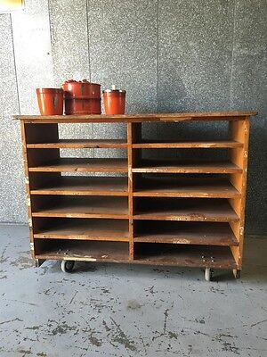 Rustic Industrial vintage Retro Kitchen island / filing / Work Bench.